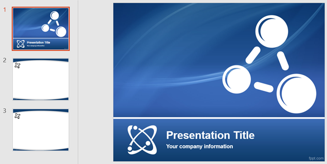 physics lesson powerpoint template