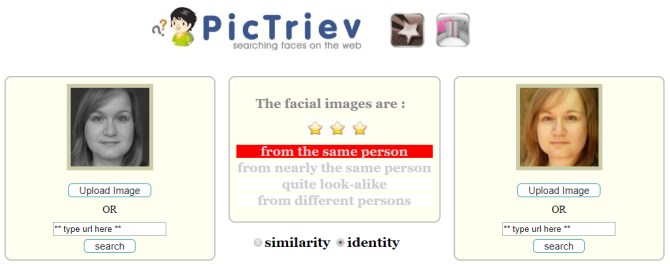 3 Fascinating Search Engines That Search for Faces PicTriev Identity