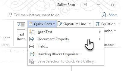 How to Create Professional Reports and Documents in Microsoft Word Quick Parts Categories