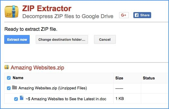 How to Unzip ZIP Files in Google Drive Without Downloading Them First Unzip
