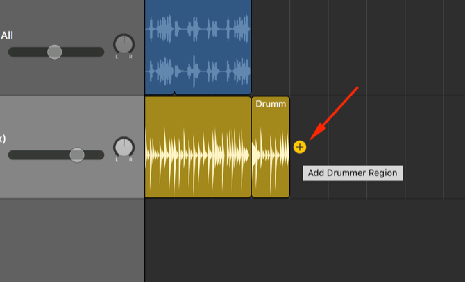 add drummer region garageband