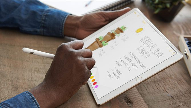 apple pencil taking notes