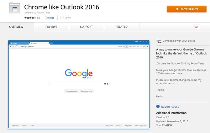 chrome like outlook gmail extension