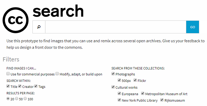 creative commons advanced search