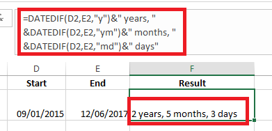 How to Use Excel to Calculate Between Dates excel date range