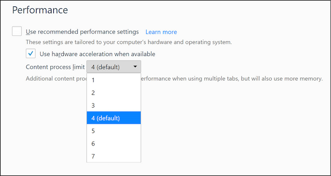 Change Content Process Limit in Firefox to make it faster