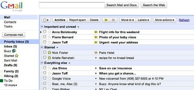 gmail in 2010