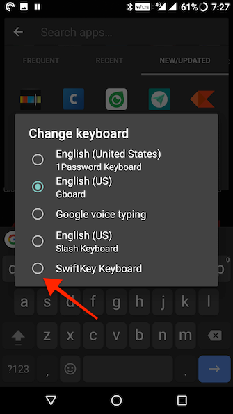 how to replace android keyboard 6