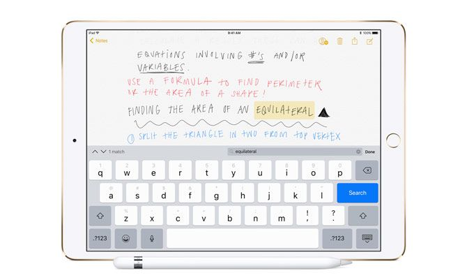 ios 11 searchable handwriting