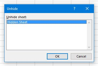 excel list of hidden sheets