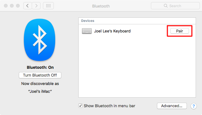Mac Connect Bluetooth клавиатура