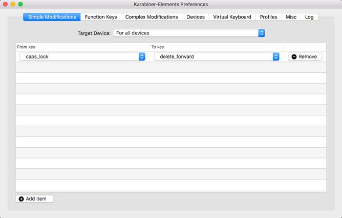 Mac carabiner settings