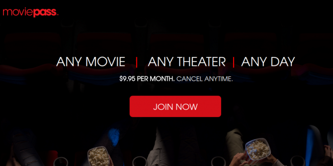 MoviePass Now Offers Unlimited Movies for $10