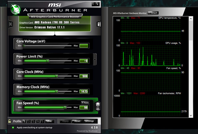 msi afterburner benchmark app
