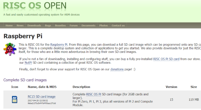risc os download