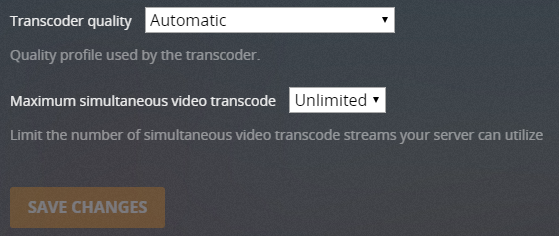 plex video transcoding