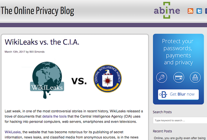 online privacy blog