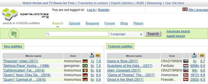 The 3 Best Subtitle Sites for Your Movies & TV Series subtitle sites open subtitles