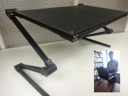 20 Awesome 3D Printing Ideas for Students and Dorm Rooms thingiverse laptop stand