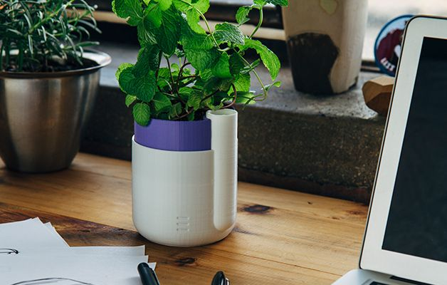 20 Awesome 3D Printing Ideas for Students and Dorm Rooms thingiverse self watering planter