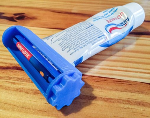 20 Awesome 3D Printing Ideas for Students and Dorm Rooms thingiverse toothpaste squeezer