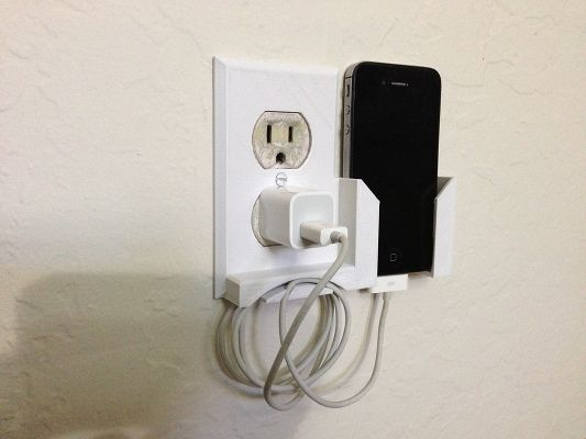 20 Awesome 3D Printing Ideas for Students and Dorm Rooms thingiverse wall outlet dock