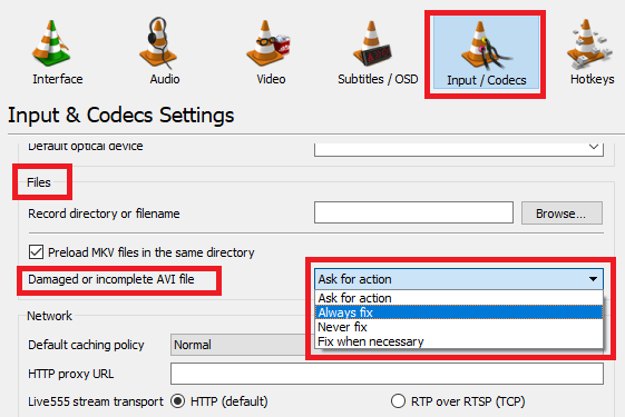 How to Repair Broken AVI Files That Won't Play vlc fix avi tools