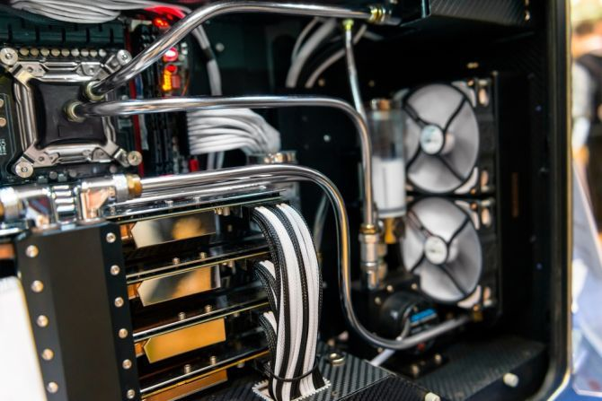 The Ultimate Guide to Your PC: Everything You Wanted to Know -- and More water cooling pc closeup
