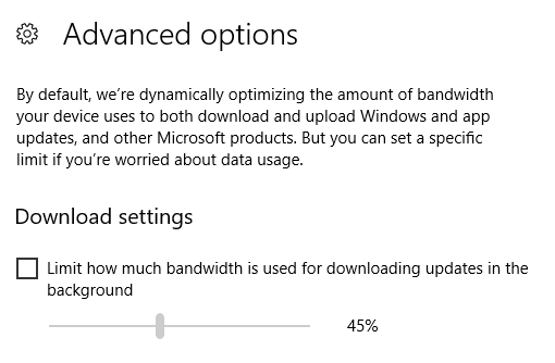 windows 10 bandwidth limit