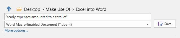 How to Integrate Excel Data Into a Word Document word macro enabled document