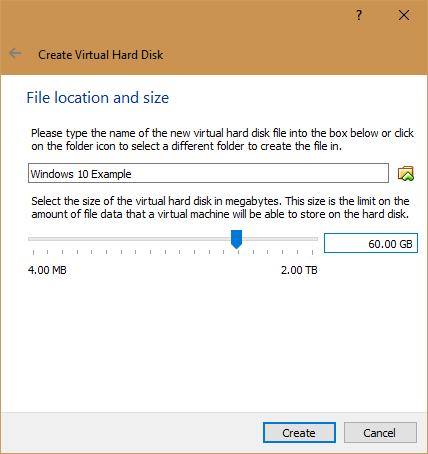 How to Use VirtualBox: User's Guide 08 VirtualBox Windows 10 Disk Size