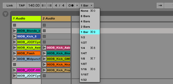 Ableton Live: The Ultimate Beginner's Guide Ableton Quantization Menu 2