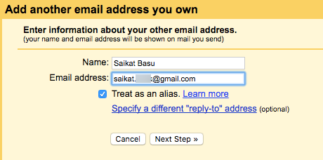 Gmail -Add Another Email Address