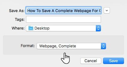 Chrome Save As