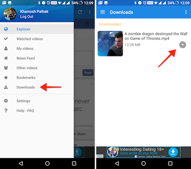 Download Videos from Facebook Instagram Twitter on Android 3