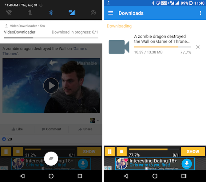 Download Videos from Facebook Instagram Twitter on Android 4