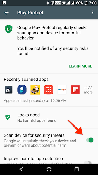 Google Play Protect Android 1