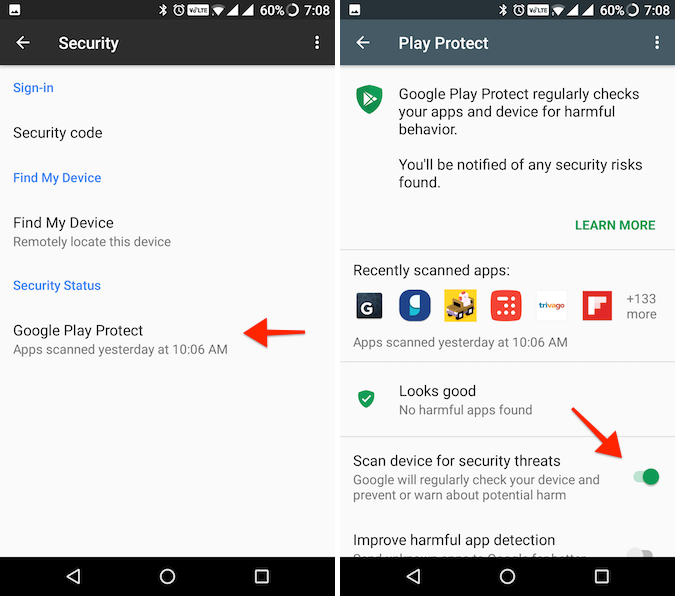 Google Play Protect Android 4