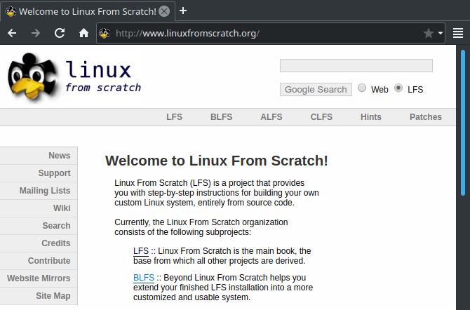 linux from scratch installation