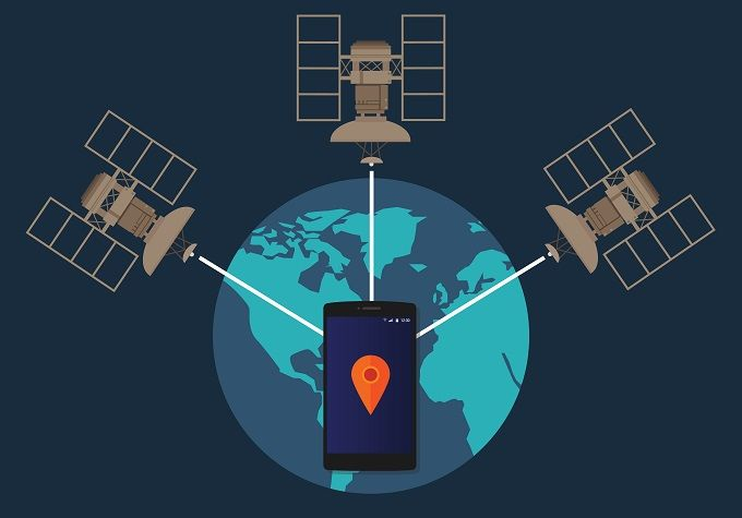 gps location tracking illustration