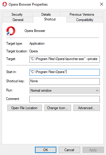 How to Start Your Browser in Private Mode by Default Opera Private