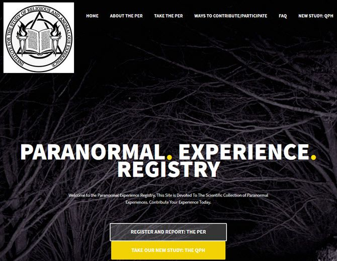 paranormal experience registry