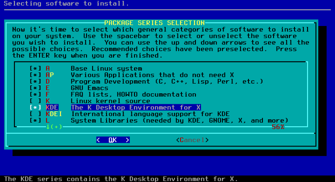 slackware choices installation