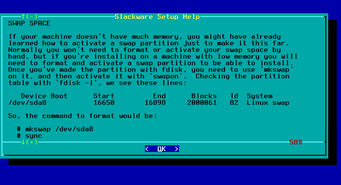 slackware installation documentation