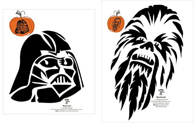 graphic regarding Star Wars Pumpkin Stencils Free Printable referred to as All those Extraordinary Printable Halloween Stencils Are Spookily