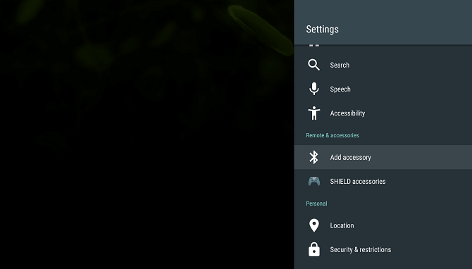android tv settings accessory