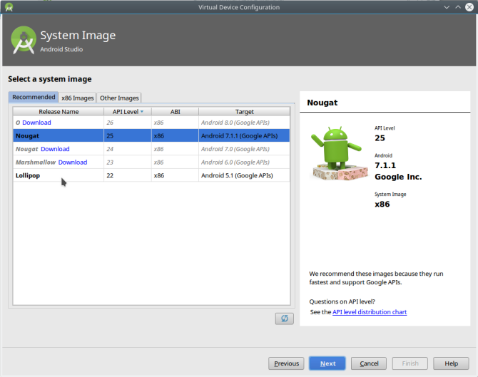 android versions studio avdmanager software