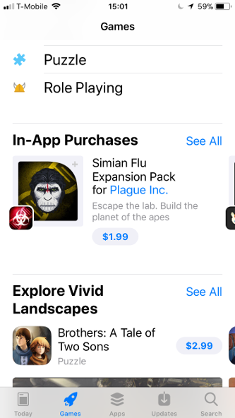 ios app store in-app purchases