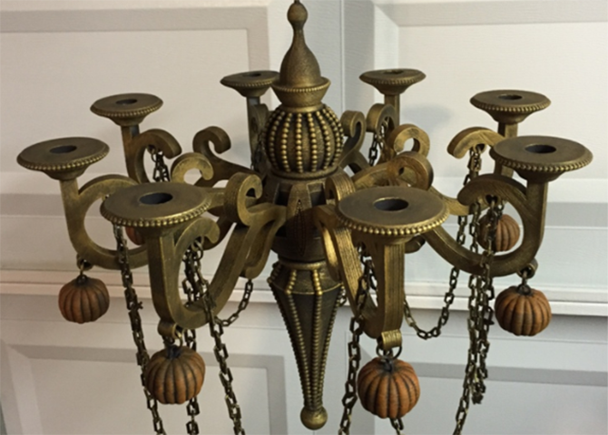chandelier of gold 3d print