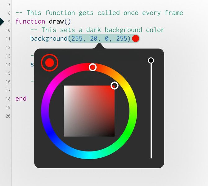 color picker codea ipad